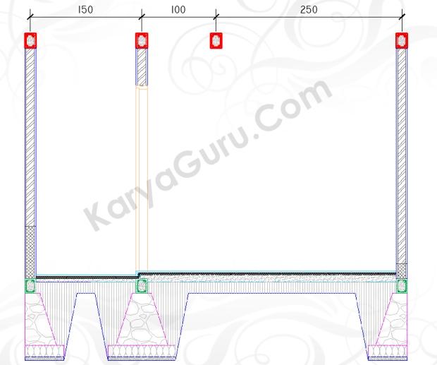 RING BALK - Tutorial Belajar AutoCAD Gambar Kerja Potongan Rumah ShopDrawing Section
