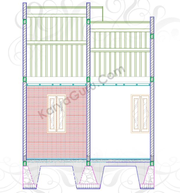 WALLPAPER - Tutorial Belajar AutoCAD Gambar Kerja Potongan Rumah Tinggal ShopDrawing Section