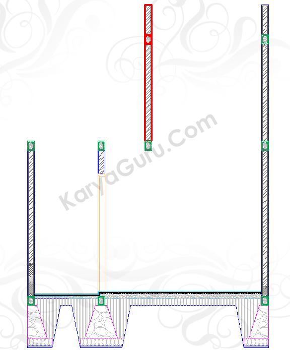 SOPI-SOPI - Tutorial Belajar AutoCAD Gambar Kerja Potongan Rumah ShopDrawing SectionTENGAH
