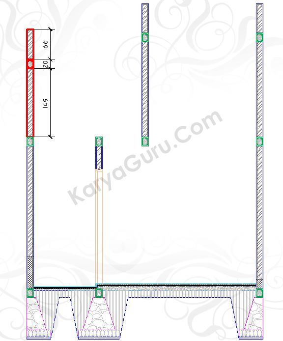 SOPI-SOPI KIRI - Tutorial Belajar AutoCAD Gambar Kerja Potongan Rumah ShopDrawing Section