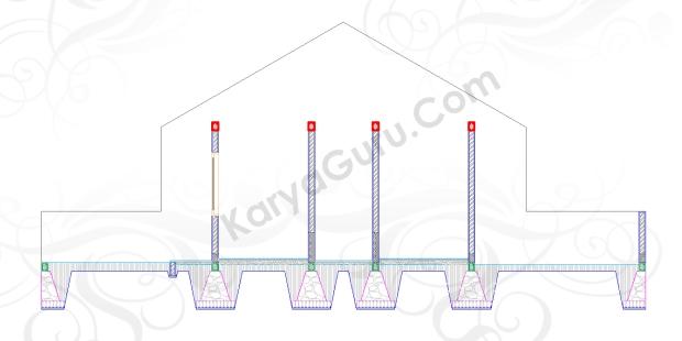 RING BALK - Tutorial Belajar AutoCAD Gambar Kerja Potongan C-C Rumah Tinggal ShopDrawing Section