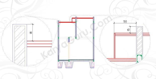 BUBUNGAN ATAP - Tutorial Belajar AutoCAD Gambar Kerja Potongan Rumah ShopDrawing Section