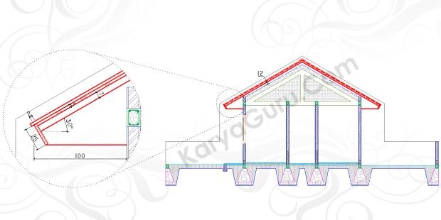 ATAP LISTPLANK - Tutorial Belajar AutoCAD Gambar Kerja Potongan C-C Rumah Tinggal ShopDrawing Section