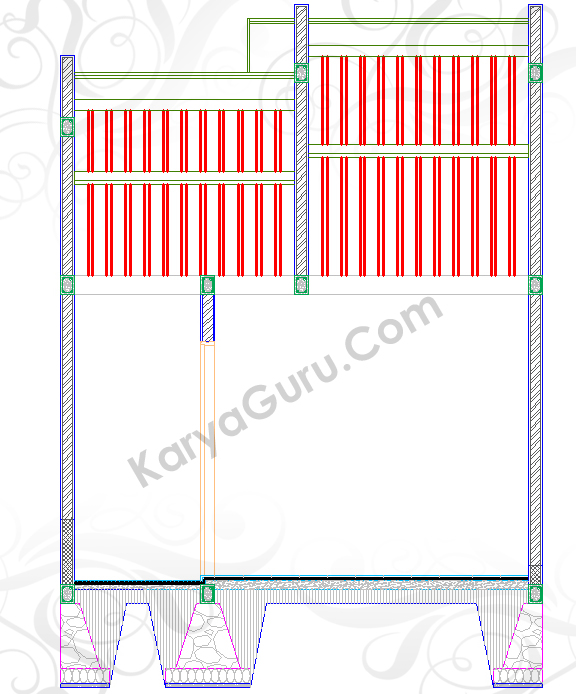 RENG KAYU ATAP - Tutorial Belajar AutoCAD Gambar Kerja Potongan Rumah ShopDrawing Section