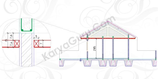 PLAFOND - Tutorial Belajar AutoCAD Gambar Kerja Potongan C-C Rumah Tinggal ShopDrawing Section