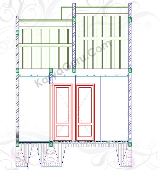PINTU - Tutorial Belajar AutoCAD Gambar Kerja Potongan Rumah ShopDrawing Section