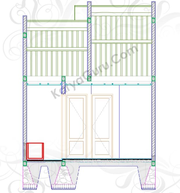 BAK MANDI - Tutorial Belajar AutoCAD Gambar Kerja Potongan Rumah ShopDrawing Section