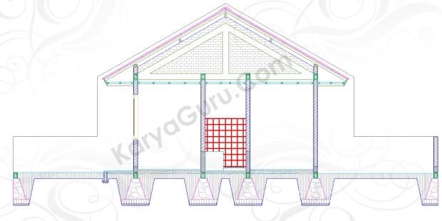 KERAMIK TOILET - Tutorial Belajar AutoCAD Gambar Kerja Potongan C-C Rumah Tinggal ShopDrawing Section