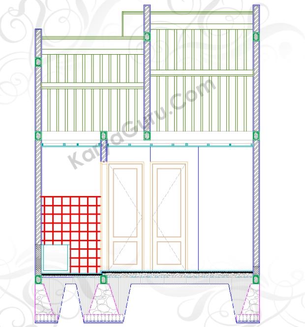 KERAMIK TOILET - Tutorial Belajar AutoCAD Gambar Kerja Potongan Rumah ShopDrawing Section