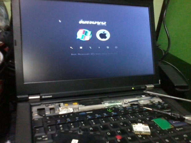 Dualboot Hackintosh OSX Win7Pro64bitOriginal Lenovo T420 i7 DualVGA NVidia NVS + Intel HD