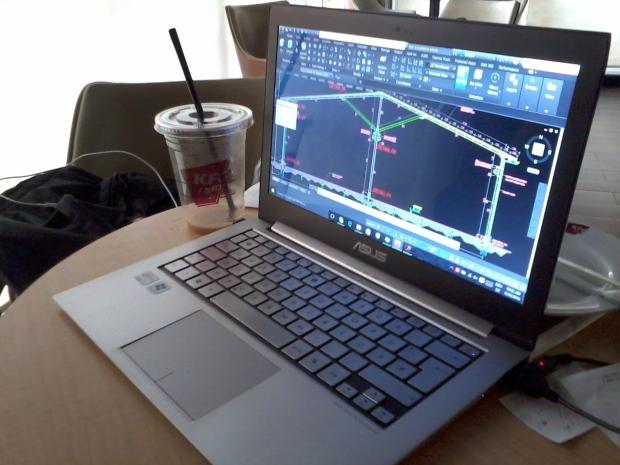 Kursus Private AutoCAD Rangka Struktur Baja di KFC Coffee Lenteng Agung