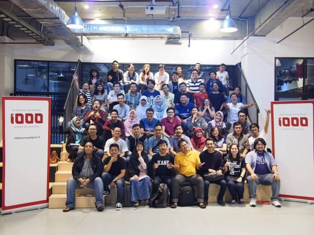Peserta dan Panitia Workshop 1000StartupDigital di Jakarta 1A lokasi BukaLapak