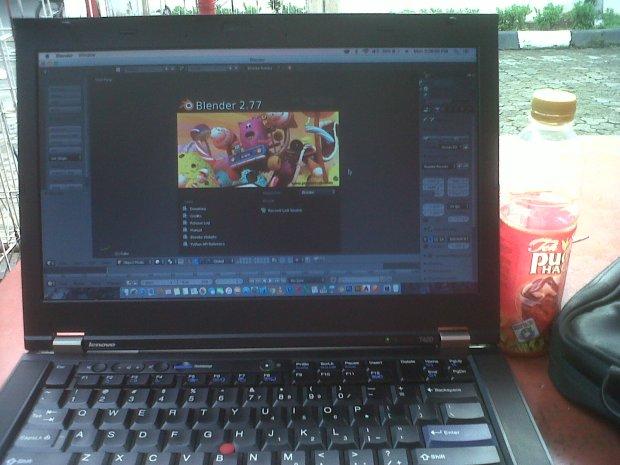 Blender Hackintosh DualBooting MacOSX + Windows Lenovo Thinkpad T420 i7 4CPUs 2,8GHz