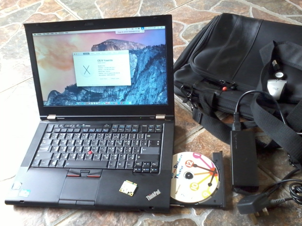Jual Hackintosh DVD RW MacOSX Thinkpad T420 i7 4CPUs 2,8GHz