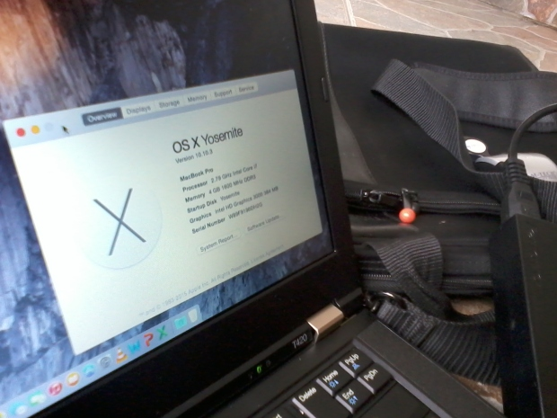 Jual Hackintosh MacOSX Thinkpad T420 i7 4CPUs 2,8GHz
