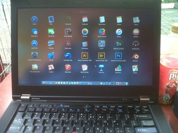 Yosemite Hackintosh DualBooting MacOSX + Windows Lenovo Thinkpad T420 i7 4CPUs 2,8GHz
