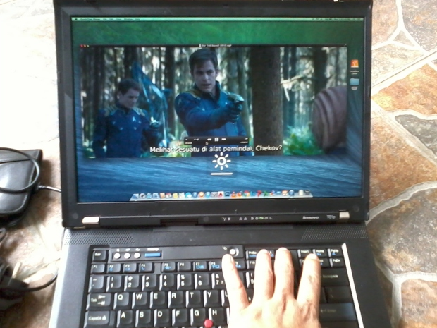 Brightness Keyboards Quicktime Player di Laptop Hackintosh OSX Mavericks Lenovo Thinkpad T61p NVIDIA Quadro FX 570M