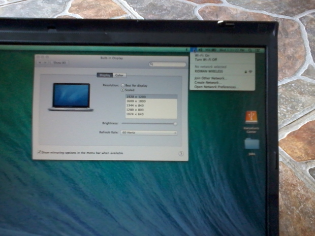 Display Resolution 1920x1020 Hackintosh OSX Mavericks Lenovo Thinkpad T61p
