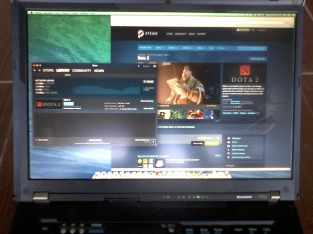 Install Dota2 di Laptop Hackintosh Lenovo Thinkpad T61p NVIDIA Quadro FX 570M