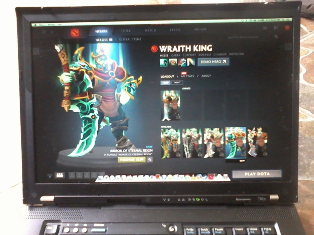 Games Dota2 OSX Mavericks di Laptop Lenovo Thinkpad T61p NVIDIA Quadro FX 570M