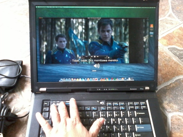 Sound Keyboard Quicktime Player di Laptop Hackintosh OSX Mavericks Lenovo Thinkpad T61p NVIDIA Quadro FX 570M