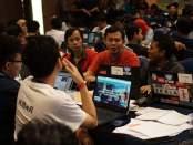 Suasana hackathon hacksprint kemenkominfo 1000startupdigital jakarta