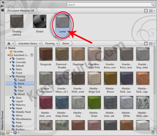 10-lantai-flooring-stone-granite-gray-speckled-material-browser-tutorial-autocad-3d