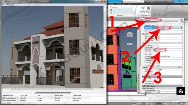 101-presentation-mitchell-render-layout-viewport-tutorial-autocad-3d