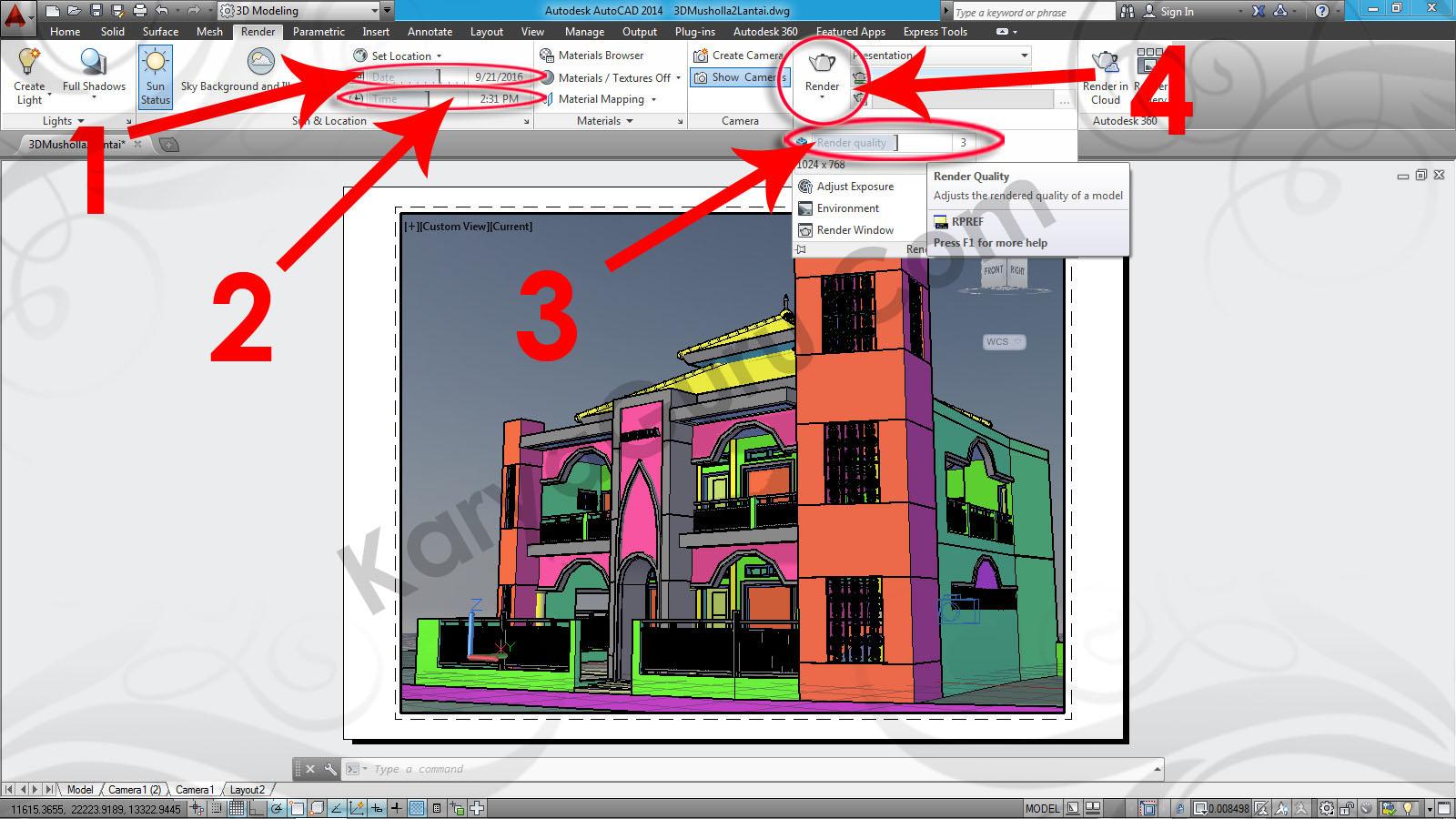 autocad 2016 rendering tutorial pdf