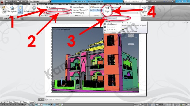 102-date-time-render-quality-layout-viewport-tutorial-autocad-3d