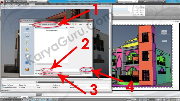 103-save-in-file-name-type-render-layout-viewport-tutorial-autocad-3d