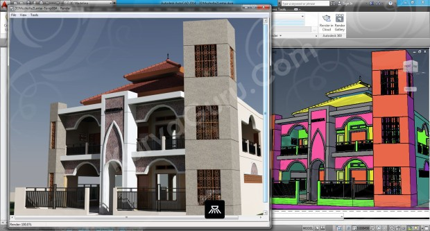105-render-camera-1-layout-viewport-tutorial-autocad-3d