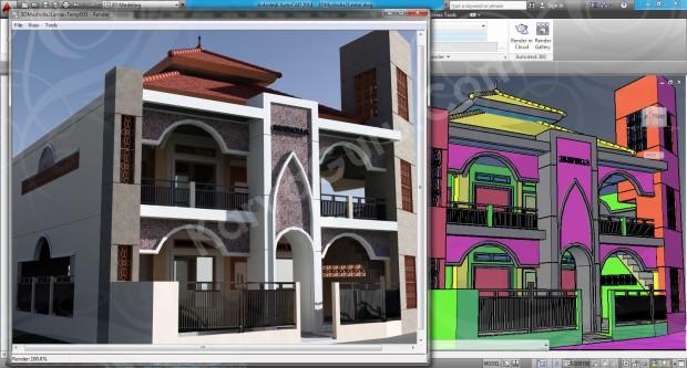 106-render-camera-2-layout-viewport-tutorial-autocad-3d