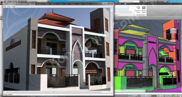 106-render-camera-2-layout-viewport-tutorial-autocad-3d