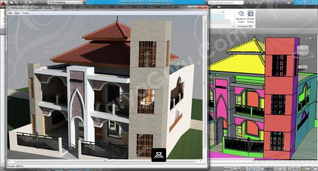 107-render-camera-3-layout-viewport-tutorial-autocad-3d
