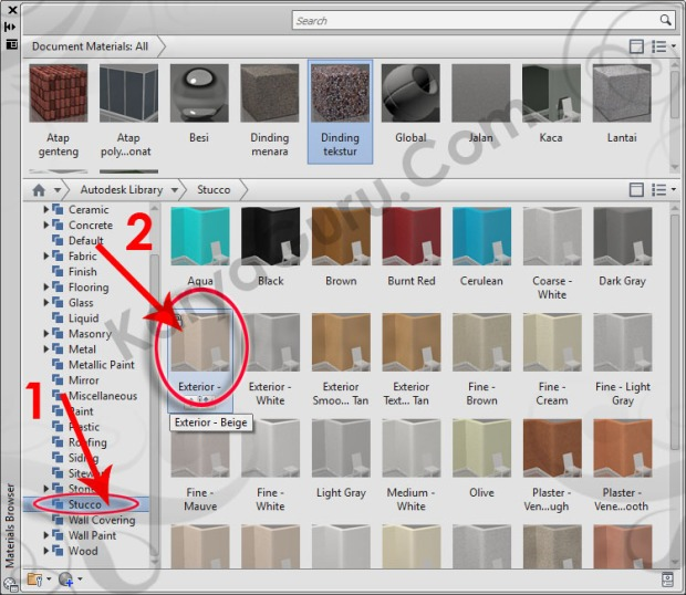 35-stucco-exterior-beige-material-browser-tutorial-autocad-3d
