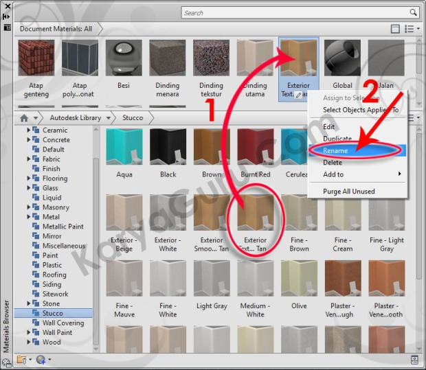 39-stucco-exterior-textured-tan-rename-material-browser-tutorial-autocad-3d