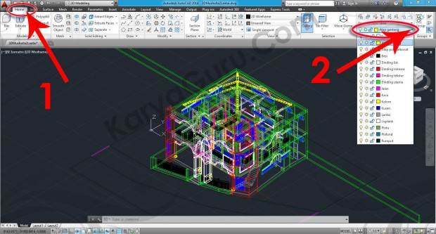 54-layers-workspace-switching-3d-modeling-autocad-tutorial