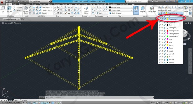 55-layers-atap-genteng-workspace-switching-3d-modeling-autocad-tutorial