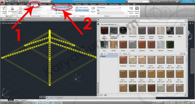 56-render-material-browser-autocad-tutorial