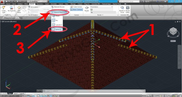 59-material-mapping-spherical-autocad-tutorial