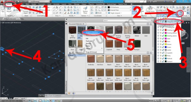 61-assign-to-selection-glass-glazing-spandrel-material-browser-tutorial-autocad-3d