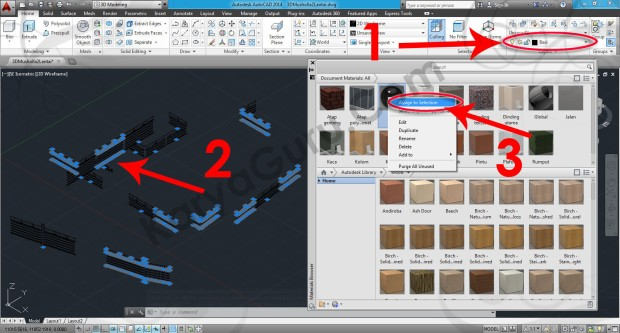 62-assign-to-selection-metal-chrome-polished-material-browser-tutorial-autocad-3d