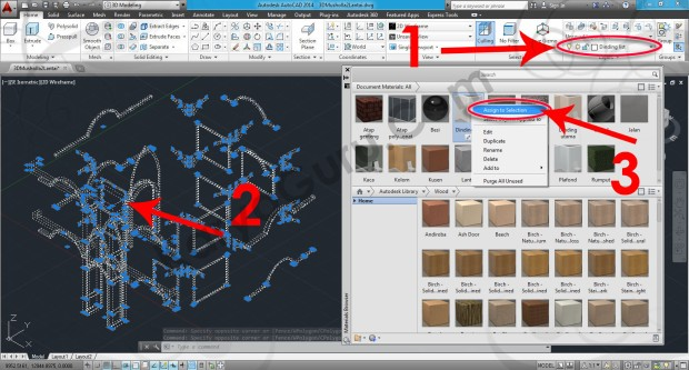 63-assign-to-selection-wall-paint-matte-white-material-browser-tutorial-autocad-3d