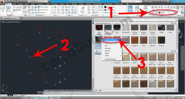 68-assign-to-selection-mirror-basic-material-browser-tutorial-autocad-3d