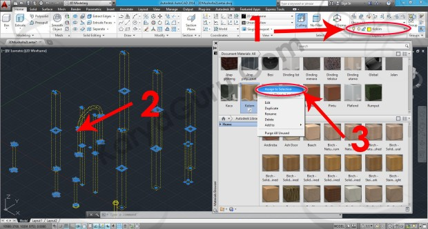 69-assign-to-selection-stucco-exterior-textured-tan-material-browser-tutorial-autocad-3d