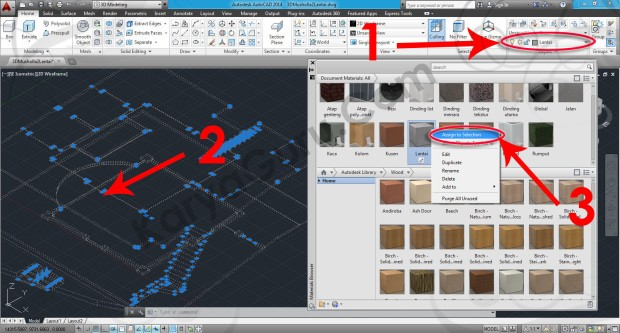 71-assign-to-selection-flooringstone-granite-gray-speckled-material-browser-tutorial-autocad-3d