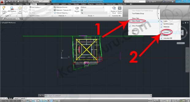 79-render-show-panel-camera-tutorial-autocad-3d