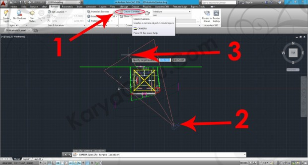 80-create-camera-tutorial-autocad-3d