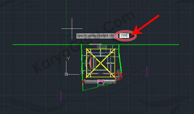 82-specify-camera-height-tutorial-autocad-3d